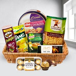 Lovely Heart Healthy Snacks Gift Basket to Baghalkot