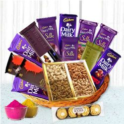Lovable Chocolate Family Hamper Basket to Indore