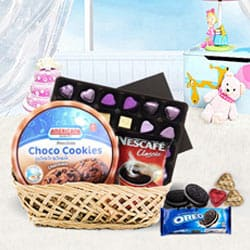 Exciting Party Special Chocolate Hamper Basket to Bikaner