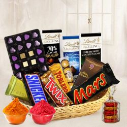Popular Temptation Basket of Assorted Chocolates to Baharampur