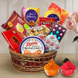 Delicious Chocolate Assortment Hamper Basket to Bhiwani