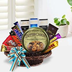 Wonderful Party Special Chocolate Hamper Basket to Gurgaon