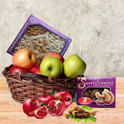 Enticing Fruit N Nut Gift Basket to Barh