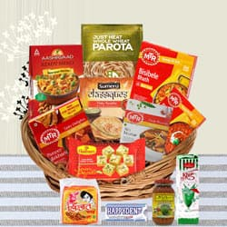 Appetizer and Unique North Indian Dinner Gift Hamper to Asansol