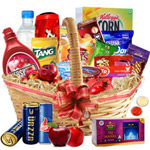 Glamorous a Golden Holiday Breakfast Gift Hamper with free Roli Tilak and Chawal to Anand