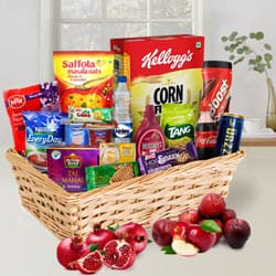 Glamorous a Golden Holiday Breakfast Gift Hamper to Ghaziabad