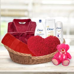 Exclusive Winter Time Dove Gift Basket for Ladies to Behrampur