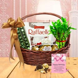 Unique Birthday Essentials Gift Basket<br> to Banswara