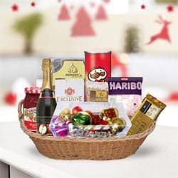 Delicious Anniversary Treat Gift Basket<br> to Badgam
