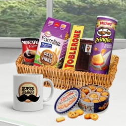 Favorite Treat Gift Basket for Dad<br> to Bakhtiarpur