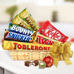Luscious Choco Essentials Gift Basket<br> to Bapatla