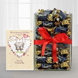Sweet Anniversary Chocolate Hamper<br> to Ancharakandy