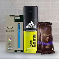 Delighted Treat Gift Hamper for Him<br> to Aslali
