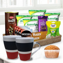 Hot N Refreshing Coffee Treat Gift Basket for Him <br> to Abohar