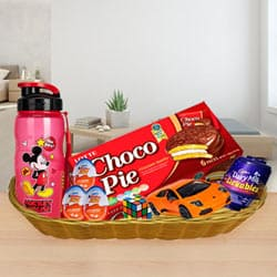 Kids Charm Gift Basket of Joyous Assortments<br><br> to Adipur