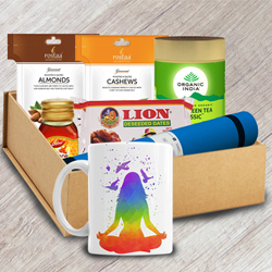 Wonderful Yogic Morning Gift Hamper to Adoor