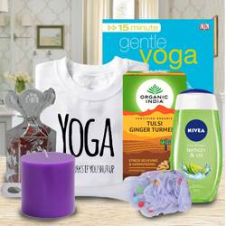 Amazing Gift Basket of Yoga, Tea and Essentials to Adugodi