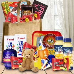 Amazing Birthday Chocolates Hamper for Kids to Addanki