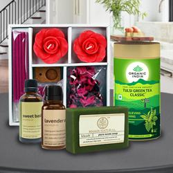 Delightful Aromatic Evening Gift Hamper to Dhoraji