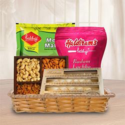 Sweets N Savory Basket Hamper to Aligarh