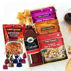 Delicious Mixed Dry Fruits N Grape Drink Gift Hamper to Abohar