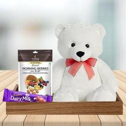 Remarkable Birthday Chocolates, Teddy n Berries Gift to Aizwal