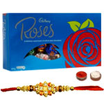 Stunning Rakhi with Cadbury Roses Chocolate to Rakhi_to_newzealand.asp