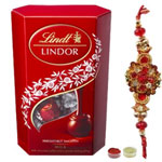 Fascinating Rakhi with Lindor Chocolate to Rakhi_to_newzealand.asp