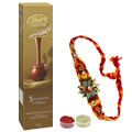 Attractive Rakhi Along With Lindor Chocolate to Rakhi_to_newzealand.asp