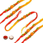 Adorable Five Rakhi Set to Rakhi_to_newzealand.asp