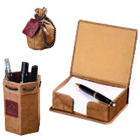 Leather Desktop Accessory Set 2 to Banka