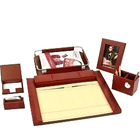 6 pcs Desktop Planner Set in Brown from Leather Talk made of Genuine Leather to Bilaspur