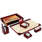 6 pcs Genuine Leather Planner Set in Brown from Leather Talk to Gurgaon