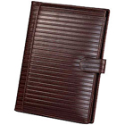 Genuine Leather Tan Colored Writing Cum Conference Pad from Leather Talk to Bangalore