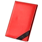 Designer Faux Leather Conference Folder in Red from Vaunt to Batala