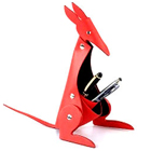 Kangaroo Shaped Faux Leather Desktop Pen Set Holder in Red from Vaunt to Varanasi