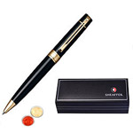 Captivating Gloss Black Gold Tone Trim Ball Point Pen From Sheaffer with free Roli Tilak and Chawal to Amritsar