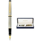 Charming Expert Stainless Steel Gold Trim Fountain Pen made by Waterman to New Delhi