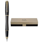 Wonderful Black Urban Premium Ebony Metal Chiselled Gold Trim Fountain Pen from Parker to Palladam
