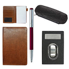 Glamorous Visiting Card Holder, Multipurpose Passport Holder and Parker Vector Pen with Pen Case Gift Set to Amalampuram