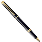 Plush Admiration Hemisphere Mars Black GT RB Pen from Waterman to Varanasi