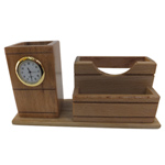 Wooden Pen Holder and Clock Showpiece to Bellary