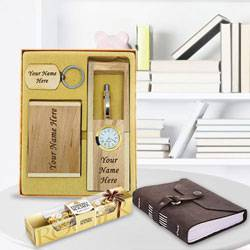 Exclusive Personalized Wooden Office Stationery Set to Aalangulam