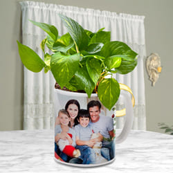 Remarkable Money Plant in Customized Coffee Mug to Anjar