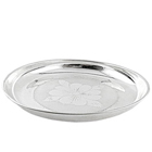 Pure Silver thali for Puja to India