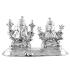 Divine looking silver plated Laxmi Ganesh idol to Barrackpore