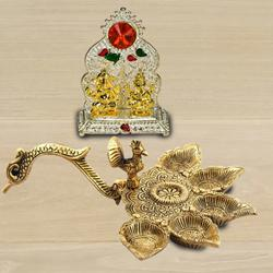 Marvelous Antique Diya with Ganesh Laxmi Mandap<br> to Agroli