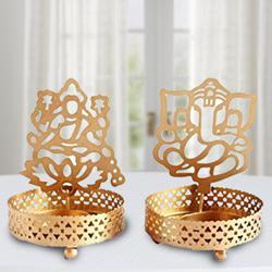 Marvelous Ganpati ji and Laxmiji Tealight Candle Holder to Adugodi