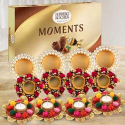 Remarkable Diya Set with Ferrero Rocher to Ahmadnagar
