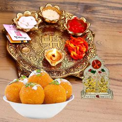 Marvelous Pooja Combo gift to Adilabad